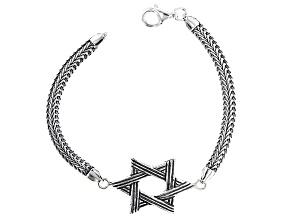 Silver Star Of David Bracelet