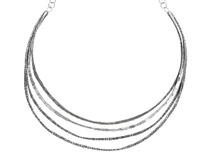 Silver Four-Row Necklace