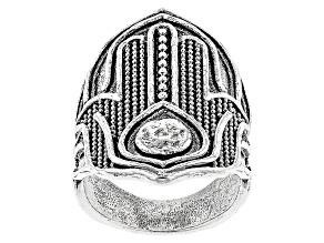 Silver Hamsa Hand Ring