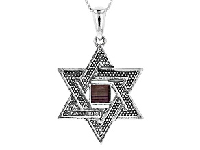 Silver Nano Bible Star of David Pendant With Chain