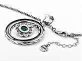 Green Eilat Sterling Silver Pendant With Chain
