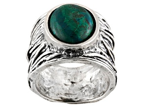 Blue Chrysocolla Sterling Silver Ring