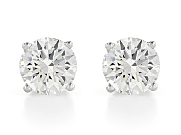 Picture of White Lab-Grown Diamond 14K White Gold Stud Earrings 1.50ctw