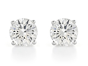 White Lab-Grown Diamond 14K White Gold Stud Earrings 1.50ctw