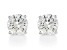 White Lab-Grown Diamond 14K White Gold Stud Earrings 1.50ctw