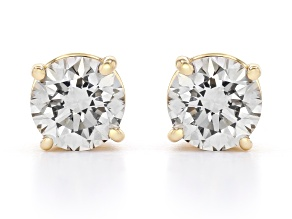 White Lab-Grown Diamond 14K Yellow Gold Stud Earrings 1.50ctw