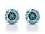 Blue Lab-Grown Diamond 14K White Gold Solitaire Stud Earrings 1.50ctw