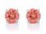 Pink Lab-Grown Diamond 14K White Gold Stud Earrings 0.75ctw