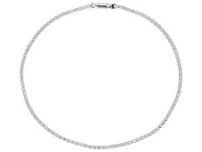 White Lab-Grown Diamond 14k White Gold Tennis Bracelet 1.50ctw