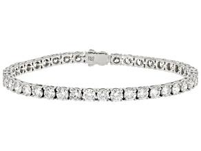 White Lab-Grown Diamond 14k White Gold Bracelet 10.00ctw