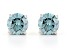 Blue Lab-Grown Diamond 14K White Gold Stud Earrings 1.00ctw