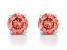 Pink Lab-Grown Diamond 14K White Gold Stud Earrings 1.00ctw