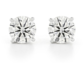 White Lab-Grown Diamond 14K White Gold Stud Earrings 2.00ctw