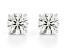 White Lab-Grown Diamond 14K White Gold Stud Earrings 2.00ctw