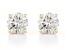 White Lab-Grown Diamond 14K Yellow Gold Stud Earrings 2.00ctw