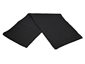 Black 100% Cashmere Scarf 2ply
