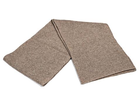 Nile Brown 100% Cashmere Scarf 2ply
