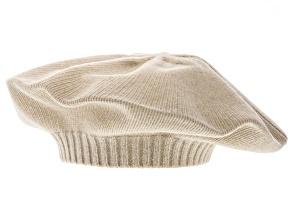 Yogi Ivory 100% Cashmere Beret