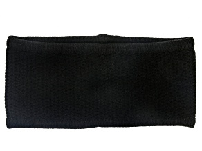 Black Honeycomb Stitched 100% Cashmere Headband