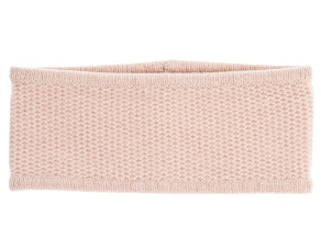 Shell Pink Honeycomb Stitched 100% Cashmere Headband