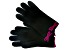 "Black 8.5"" Gloves with Plumberry Lambs wool Blended Bow"