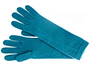 "Teal 13"" Ladies 100% Cashmere 2ply Glove"