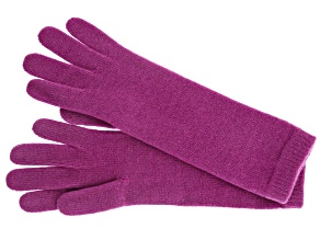 "Berry Pink 13"" Ladies 100% Cashmere 2ply Glove"