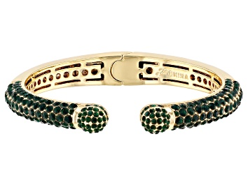 Picture of Gold Tone Green Crystal Cuff Bracelet
