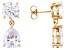 Gold Tone Over Brass with Cubic Zirconia Earrings 23.08ctw
