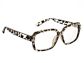 Swarovski Elements ™ Crystal, Leopard  Frame Reading Glasses 1.50 Strength