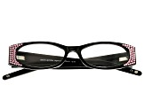 Black Frame with Pink Swarovski Elements ™ Crystal Reading Glasses 1.50 Strength
