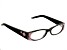 Black Frame with Pink Swarovski Elements ™ Crystal Reading Glasses 2.50 Strength