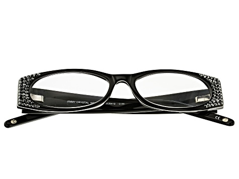 2.00 Strength Black Frame with Black Swarovski Elements ™ Crystal Reading Glasses