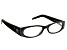 2.50 Strength Black Frame with Black Crystal Reading Glasses