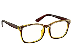 Swarovski Elements ™Crystal Brown Frame Reading Glasses 2.50 Strength