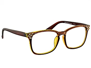 Swarovski Elements™ Crystal Brown Frame Reading Glasses 1.50 Strength