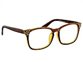 Swarovski Elements™  Crystal Brown Frame Reading Glasses 2.50 Strength