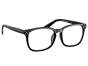 Swarovski Elements™  Crystal Black Frame Reading Glasses 1.50 Strength