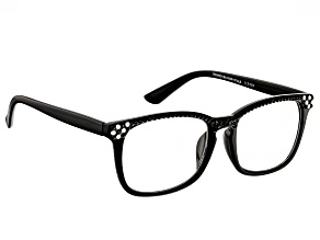 Swarovski Elements™ Crystal Black Frame Reading Glasses 2.00 Strength