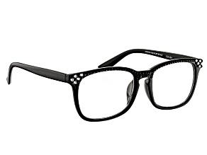 Swarovski Elements™ Crystal Black Frame Reading Glasses 2.50 Strength
