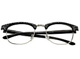 2.50 Strength Black  Frame with Black Swarovski Elements™ Crystal Accent Reading Glasses