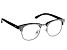2.00 Strength Black  Frame with White Swarovski Elements™ Crystal Accent Reading Glasses