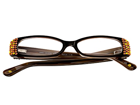 Swarovski Elements™ Crystal Black Frame Reading Glasses 1.75 Strength