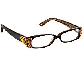 Swarovski Elements™ Crystal Black Frame Reading Glasses 2.25 Strength