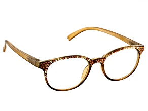 2.50 Strength Copper Yellow  Frame with Swarovski Elements™ Crystal Accent Reading Glasses
