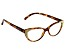2.00 Strength Brown  Frame with White Crystal Accent Reading Glasses
