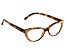2.50 Strength Brown  Frame with Brown Swarovski Elements™ Crystal Accent Reading Glasses
