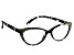 2.00 Strength Black  Frame with Black Swarovski Elements™ Crystal Accent Reading Glasses
