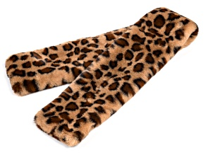 "Animal Print Faux Fur 100% Polyester 5"" x 36"" Scarf"