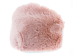 Blush Pink Faux Fur Double Lined Face Mask